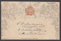 GRAN BRETAGNA MULREADY LETTER SHEET STEREO A23 FORME 2 JU.11.1840 SUPERB - 1840 Mulready Envelopes & Lettersheets