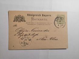 Postkarte Konigreich Bayern Speyer - Bavière