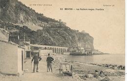 Frontière Douane Douaniers à Menton . Customs. - Aduana
