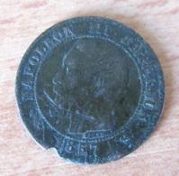 France - Monnaie 2 Centimes Napoléon III 1857 B - Achat Immédiat - B. 2 Centimes