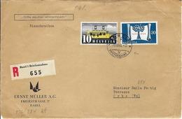 SUISSE 1948:  DDL De Bâle Pour Orbe Avec Le ZNr.276 Et 284  Beau CAD    B ä TB - Zwitserland