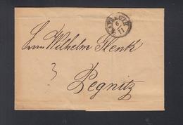 Bayern Falthülle Bayreuth 1836 Nach Pegnitz - Deutschland