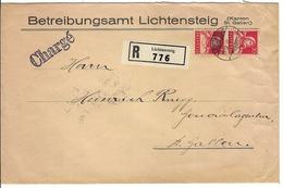 SUISSE 1932:  LSC Rec. ''Chargé'' De Lichtensteig Pour St Gallen Avec Paire Du ZNr.174  Beau CAD    B ä TB - Zwitserland
