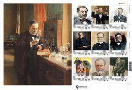 Ukraine 2020, World Science, Medicine, Microbiology Louis Pasteur, Sheetlet Of 9v - Ucrania
