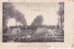 CPA - Saint-Martin De Villeneuve (17) Charente Maritime - Pont Du Chemin De Fer Sur Le Mignon - France