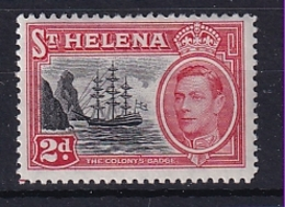 St Helena: 1949   KGVI     SG151    2d       MH - Saint Helena Island