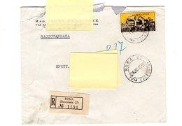 P0196 STORIA POSTALE PRE OLIMPICA 1959 L. 110 ISOLATO SU RACCOMANDATA - 6. 1946-.. Repubblica