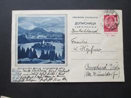 Jugoslawien 1936 Bildpostkarte GA P 75 B Matibor Nach Burscheid Gesendet Aus Dem Bedarf! - 1931-1941 Kingdom Of Yugoslavia