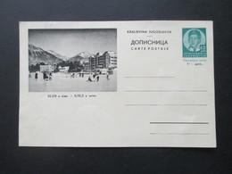 Jugoslawien 1936 GA / Bildpostkarte P74 ?!? Bled U Zimi. Ungebraucht - 1931-1941 Kingdom Of Yugoslavia