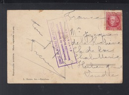 Tarjeta Port Bou Comite De Milicias Antifascistas Barcelona - 1931-Heute: 2. Rep. - ... Juan Carlos I