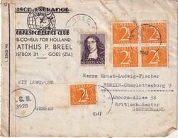 PAYS-BAS 1947 PLI   CENSURE DE GOES POUR BERLIN - Periode 1891-1948 (Wilhelmina)