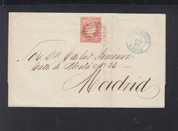 Carta Cadiz 1856 - 1850-68 Königreich: Isabella II.