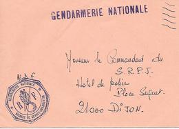 GENDARMERIE NATIONALE ( 21 ) - Brigade De GEVREY CHAMBERTIN - Postmark Collection (Covers)
