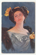 Woman In The Dress Old Postcard K.u.k. Feldpost Posted 1915 B200401 - Women