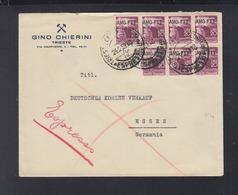 Lettera Espresso 1951 - 7. Triest