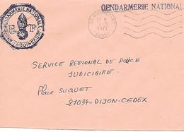 GENDARMERIE NATIONALE ( 21 ) - Brigade De AUDINCOURT - Postmark Collection (Covers)