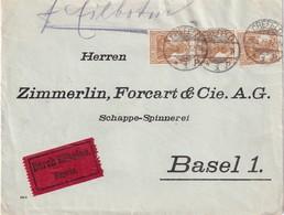 ALLEMAGNE 1917 LETTRE EXPRES DE CREFELD POUR BASEL - Briefe U. Dokumente