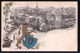 SELTEN !! *** WIESBADEN - LITHO MIT GOLDENER LÖWE Und BLICK VON DER CAPELLENTRASSE *** 1904 ! - Wiesbaden