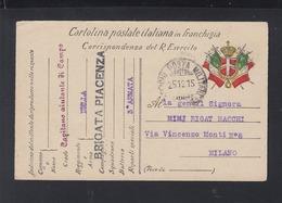Posta Militare Brigata Piacenza 1915 - 1900-44 Victor Emmanuel III.