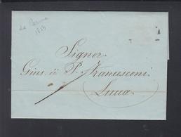 Lettera Parma Luca Strada Ferrata 1854 - 1. ...-1850 Vorphilatelie