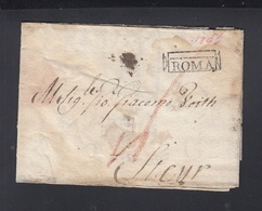 Lettera Roma 1806 - 1. ...-1850 Vorphilatelie
