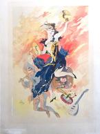 Affiche Par Cheret Les Maitres De L'affiche Imprimerie Chaix Cachet à Sec - Affiches