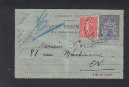 Carte Pneumatique Paris Bayeux - Ganzsachen
