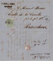 Año 1873 Edifil 133 Alegoria Carta Matasellos Rombo Mataro Membrete De  J.Julia Y Comp. - Briefe U. Dokumente