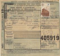 1943- Bulletin D'expédition. D'un Colis De COURCOUE /Indre Et Loire  TAXE Colis Postal N°193 De Dalley - Storia Postale