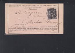 Lettre Renseignements 1883 - Poststempel (Briefe)