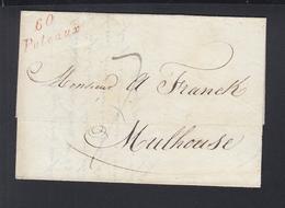 Lettre Puteaux 1833 A Mulhouse - Poststempel (Briefe)