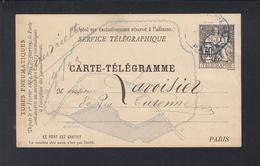 Carte-Telegramme Paris - Ganzsachen