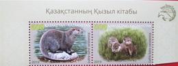 Kazakhstan  2019   Fauna  River  Otter  Red Book Of Kazakhstan  2 V   MNH - Kazakhstan
