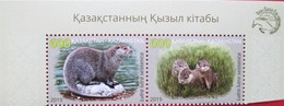 Kazakhstan  2019   Fauna  River  Otter  Red Book Of Kazakhstan  2 V   MNH - Kasachstan