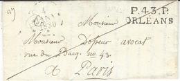1702- D'Orleans.( Loiret )   Frappe SUPERBE De Cette Marque Lenain N° 1 - Marcophilie (Lettres)