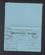 Lettre 1915 Secteur Postal 190 - Poststempel (Briefe)