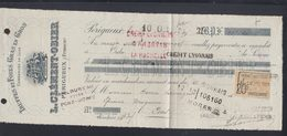 Truffes Et Foies Gras Perigueux Cheque 1921 - Steuermarken