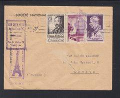 Lettre Tour Eiffel 1948 - Poststempel (Briefe)