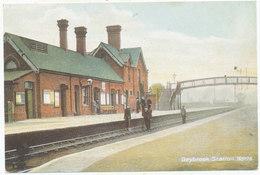 Daybrook Station, Notts ** REPRODUCTION Postcard ** - England