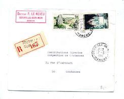 Lettre Recommandée Gouville Sur Carnac Provins - Marcophilie (Lettres)