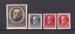 Bayern - 1920 - Michel Nr. 109 B +110 B + 114/115 B - Ungebr. - Bayern
