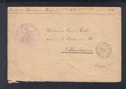 Lettre Militaire 6. Reg. Terr. Inf. 1915 - Poststempel (Briefe)