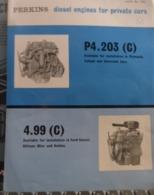 PERKINS Diesel P4 203 4.99 Moteurs Diesel Pour Automobiles En Anglais English - LKW