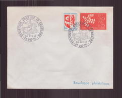 """Enveloppe Avec Cachet Commémoratif """" Exposition Charles Le Téméraire """" Du 8 Novembre 1969 à Dijon - Marcophilie (Lettres)"""