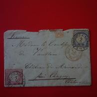 LETTRE LIMBURG A CHAGNY SAONE ET LOIRE 1873 POUR MADAME LA COMTESSE DE VAUBLANC CHATEAU DE MIMANDE - Allemagne