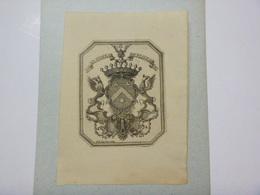 Ex-libris Héraldique XIXme - DE FLINES - Par LANG - Ex Libris