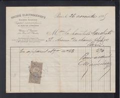Societe Eletrogenique 1896 - Steuermarken