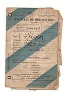 Fascicule De Mobilisation Classe De Recrutement 1907 Modèle Z N°96 Bis - Documents Historiques