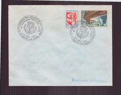 """Enveloppe Avec Cachet Commémoratif """" Congrès Philatélique ..."""" Du 3 Mai 1969 à Chalon-sur-Marne - Marcophilie (Lettres)"""