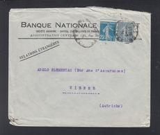 Lettre Banque Nationale A Vienne - Poststempel (Briefe)
